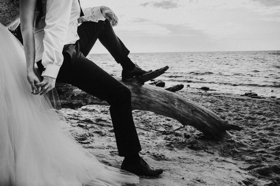 plener ślubny nad morzem Bałtyckim