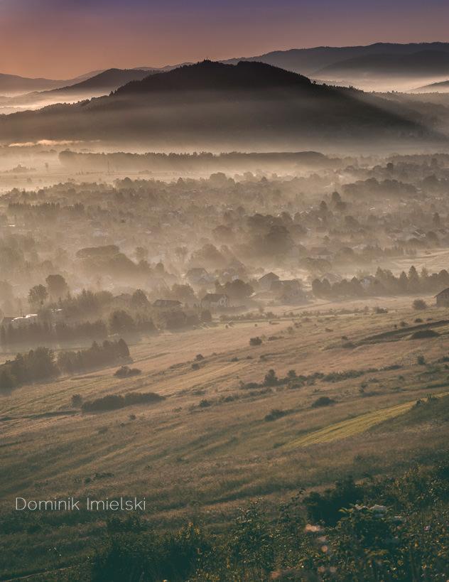 fotografia krajobrazowa - Beskidy o wschodzie słońca