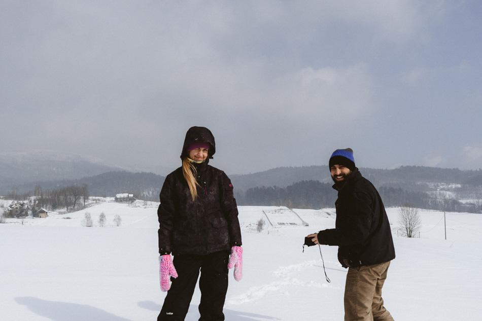 fotografia rodzinna - zimowy spacer