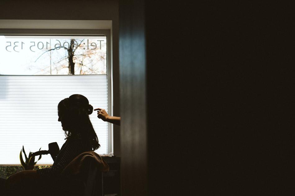 zdjęcia ślubne u fryzjera
