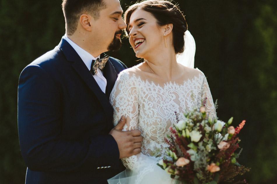 portret pary młodej w dniu ślubu