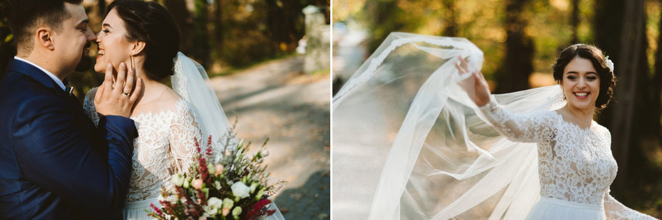 zdjęcie ślubne po ceremonii w Jaworzu