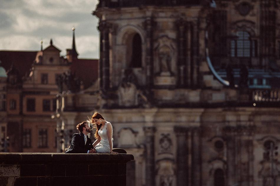 Plener ślubny za granicą w Dreźnie