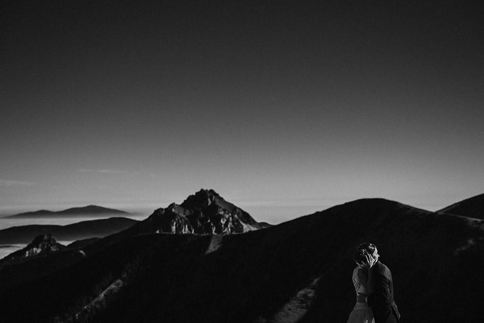 Inspirujący plener ślubny w górach