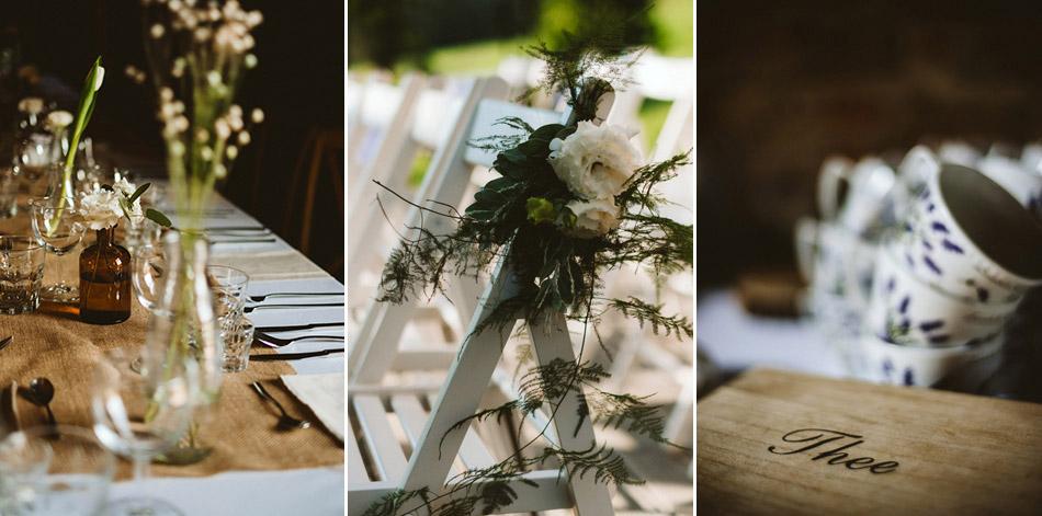Dekoracje na ślub W Dolinie Cedronu